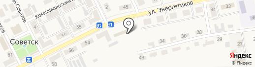 Городской рынок г. Советска на карте Советска