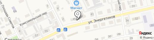 Кит на карте Советска