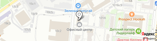 Азимут на карте Москвы