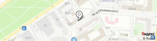 Фабрика-Прачечная №55 на карте Москвы