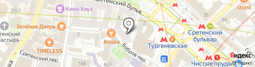 Лазурный берег на карте Москвы