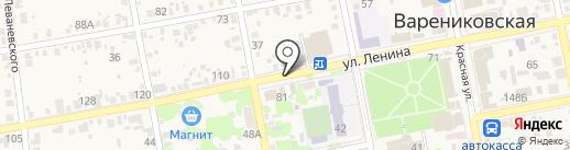 Почтовое отделение №370 на карте Варениковской