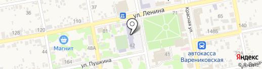 Средняя общеобразовательная школа №56 на карте Варениковской