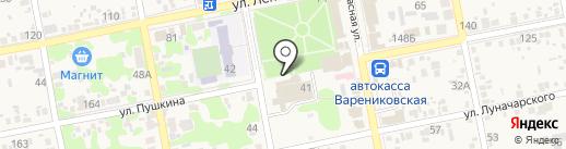 Весна на карте Варениковской