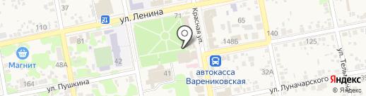 Южный на карте Варениковской