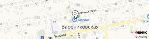 Елена на карте Варениковской