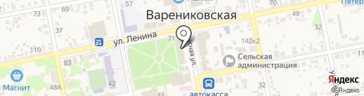 Совкомбанк, ПАО на карте Варениковской