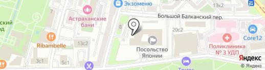 Посольство Японии в РФ на карте Москвы