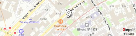Радиострой на карте Москвы