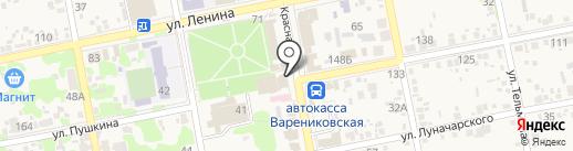 Магазин одежды на карте Варениковской