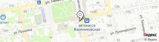 Элен на карте Варениковской