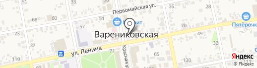 Участковый пункт полиции на карте Варениковской