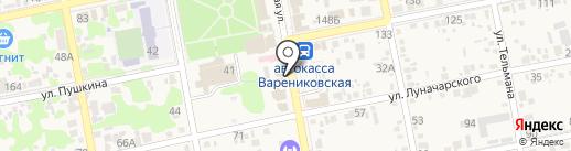 Банкомат, Сбербанк, ПАО на карте Варениковской