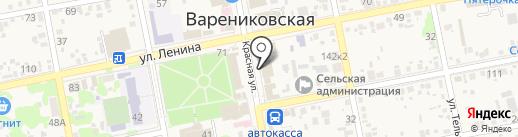 Визит на карте Варениковской