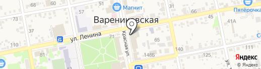 Магазин косметики и парфюмерии на карте Варениковской