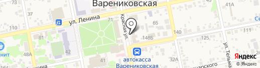 А на карте Варениковской
