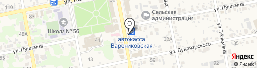 Магазин фастфудной продукции на карте Варениковской
