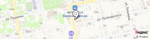 Леди стиль на карте Варениковской