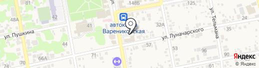 Магазин домашнего текстиля на карте Варениковской