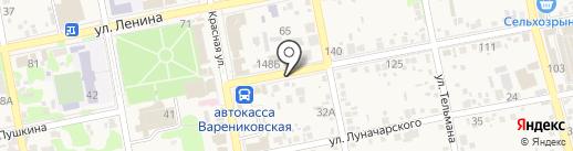 Дизайн на карте Варениковской
