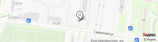 Фанкор на карте Москвы
