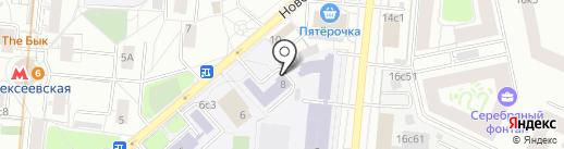 Совет молодых педагогов Северо-Восточного административного округа на карте Москвы