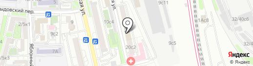Полк ДПС ГИБДД УВД по Центральному административному округу на карте Москвы