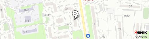 Криан на карте Москвы