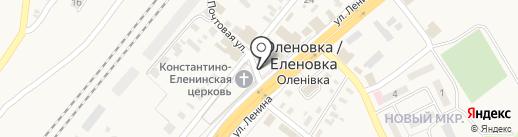 Радуга на карте Оленовки