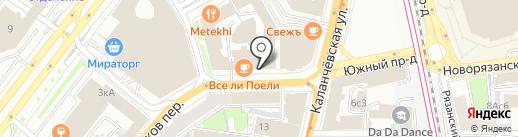 Надежность на карте Москвы