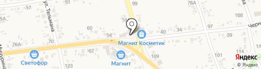 Водохлеб на карте Варениковской
