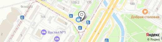 Закатала на карте Москвы