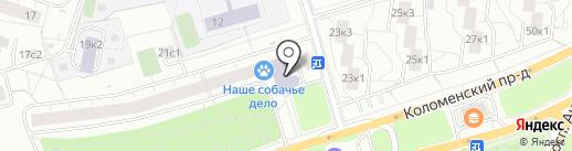 Такси Ягуар на карте Москвы