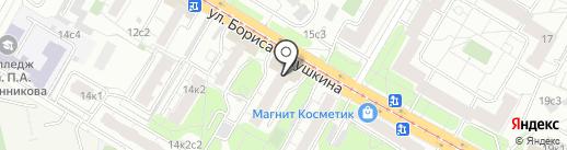 Пересвет на карте Москвы