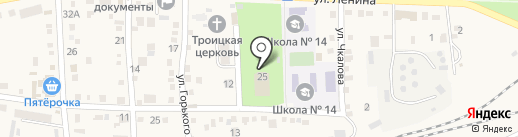 40 лет Октября, МБУ на карте Новороссийска