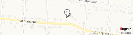 Продуктовый магазин на ул. Чапаева на карте Оленовки