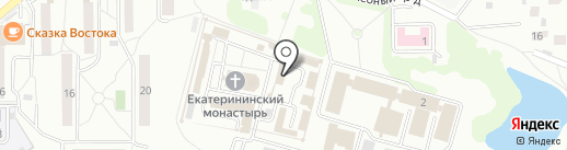 Свято-Екатерининский мужской монастырь на карте Видного