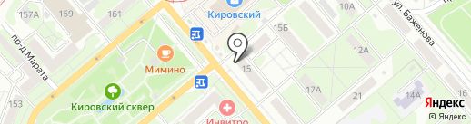 Белорусский на карте Тулы