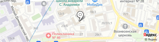 Структура на карте Москвы
