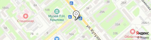 Магазин нижнего белья на карте Тулы