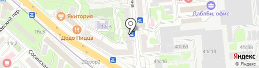Буланти на карте Москвы