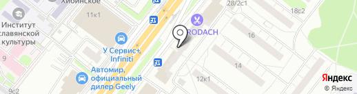Магнит-Косметик на карте Москвы