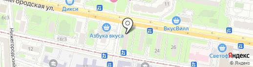 Мастерская на карте Москвы