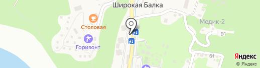 Лесное на карте Новороссийска