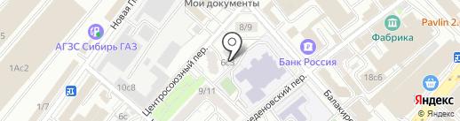 Общественный пункт охраны порядка Центрального административного округа на карте Москвы