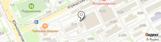 Практик на карте Москвы