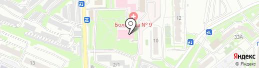 Городская больница №9 г. Тулы, ГУЗ на карте Тулы