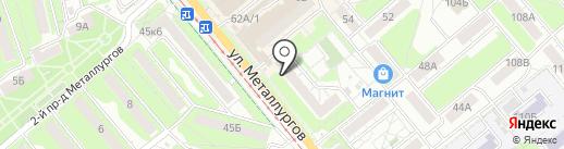 Ирэн на карте Тулы
