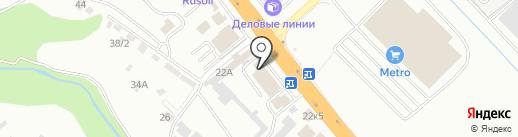 Новорос-Ойл на карте Новороссийска
