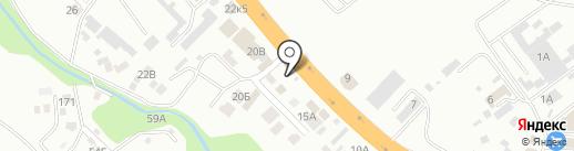 Лесъ на карте Новороссийска